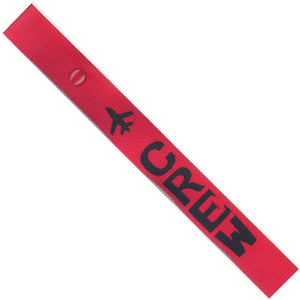 Crew - Airplane in Black on Red Bag Tag