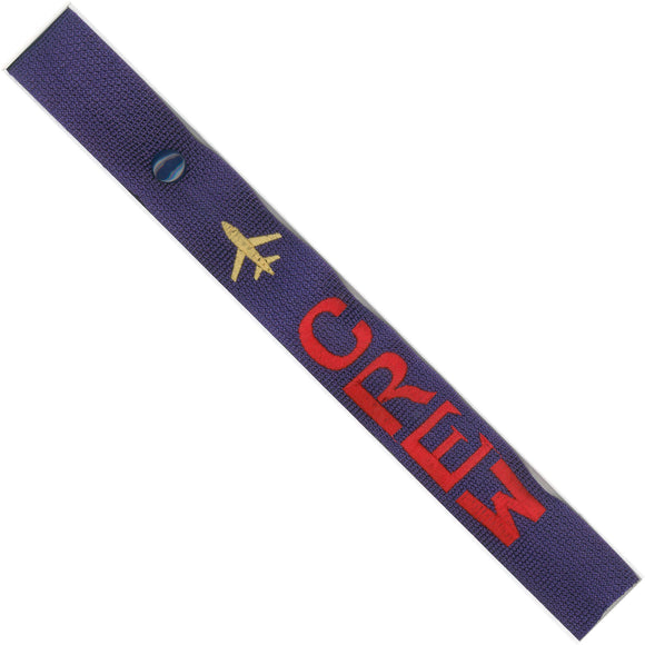 Crew - Airplane in Red/Gold on Purple Bag Tag