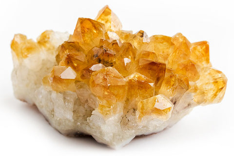 Citrine gemstone crystals