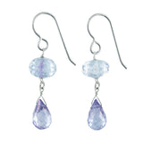 Blue quartz gemstone earrings
