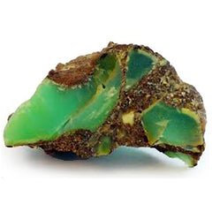 Green Chalcedony rough gemstone