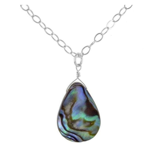 Abalone Pendant | Mother of Pearl Necklace | Abalone Jewelry - Necklaces