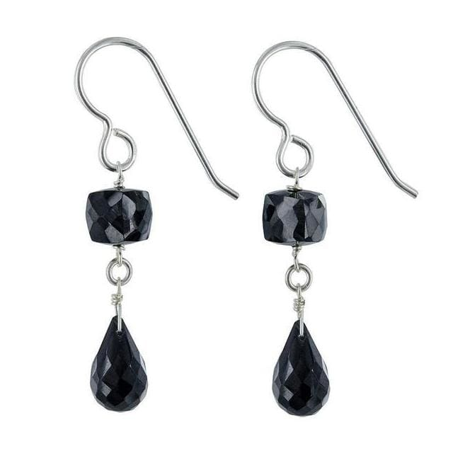 Black Earrings: Spinel Dangle Earrings | Black Gemstone Jewelry | Natural Gemstones - Earrings