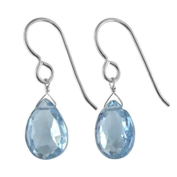 Blue Topaz Earrings | Gemstone Dangle Earrings | December Birthstones - Earrings