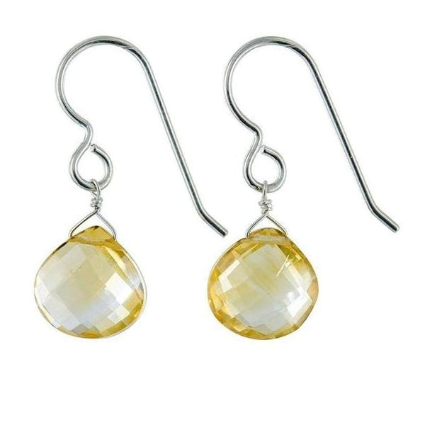 Citrine Dangle Earrings | Citrine Gemstone Jewelry| Yellow Earrings - Earrings