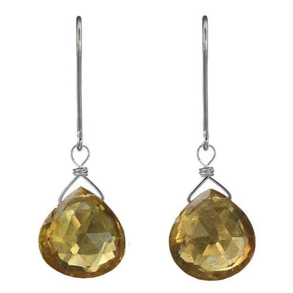 Citrine Gemstone Earrings | Yellow Dangle Earrings | November Birthstones - Earrings