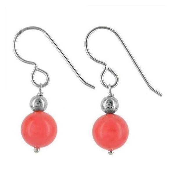 Coral Earrings | Coral Orange Beads - Earrings