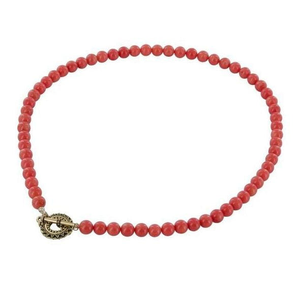 Coral Necklace | Classic Necklaces | Orange Bead Jewelry - Necklaces
