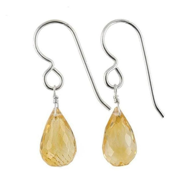 Dangle Citrine Earrings | Citrine Gemstone Jewelry | November Birthstones - Earrings