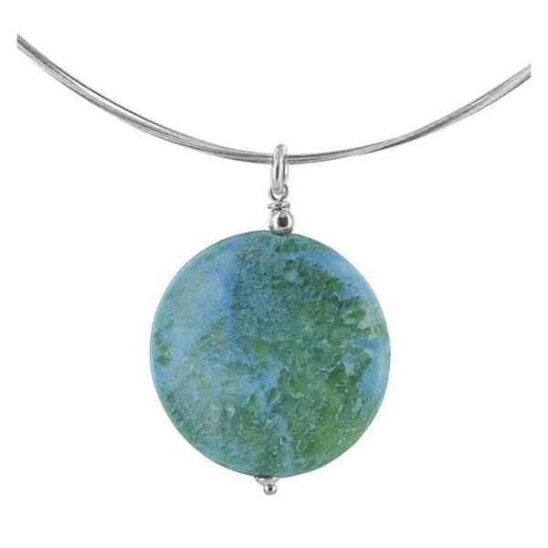 Jasper Necklace | Blue Green Gemstone Jewelry - Necklaces