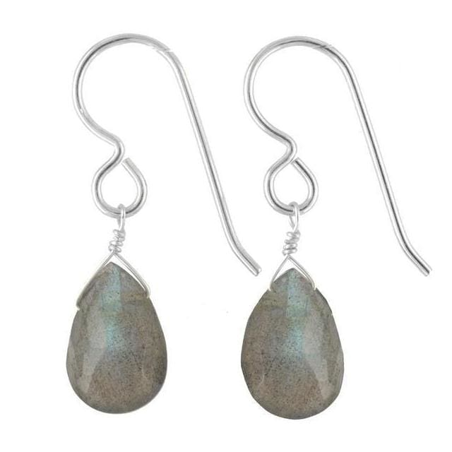 Labradorite Dangle Earrings | Gemstone Drop Earrings - Earrings