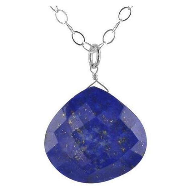 Lapis Lazuli Pendant | Untreated Lapis | Navy Blue Natural Lapis Necklace - Necklaces