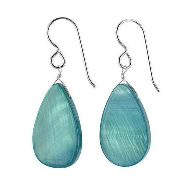Light Blue Earrings | Mother of Pearl Jewelry | Dangle Lightweight Earrings - Earrings