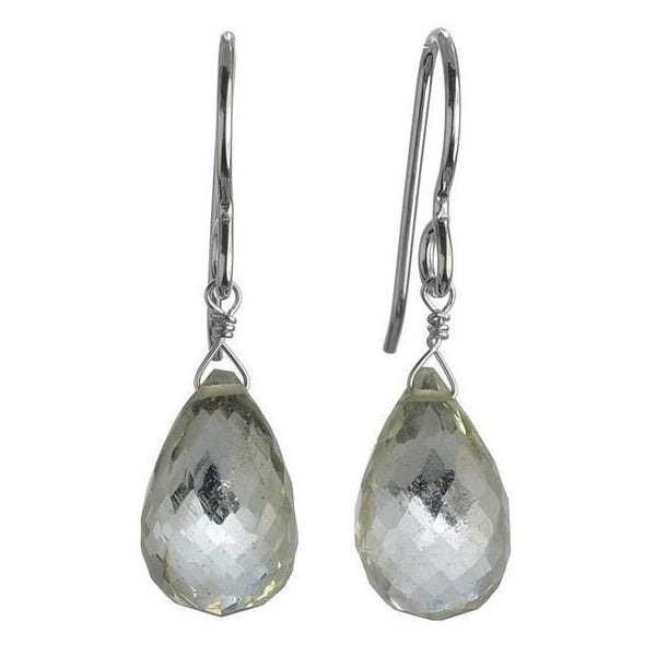 Mint Green Amethyst Gemstones - 925 Sterling Silver - Handmade Drop Earrings - Earrings