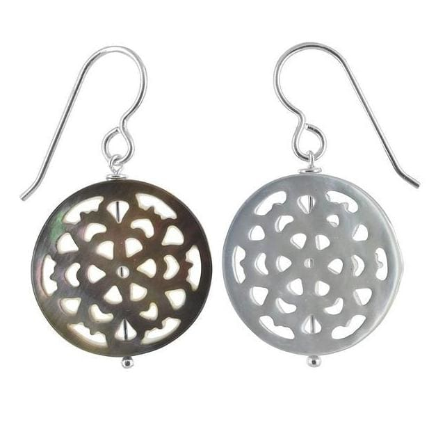 Mother of Pearl 925 Sterling Silver Handmade Earrings - Earrings