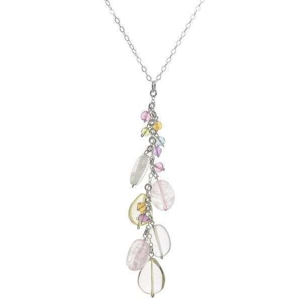 Multigemstone Necklace | Pastel Gems | Gemstone Necklace - Necklaces