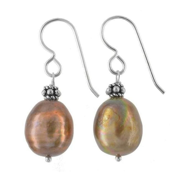 Pearl Earrings | Unique Color Pearls | Bronzed Brown Pearls | Pearl Jewelry | June Birthstones - Earrings