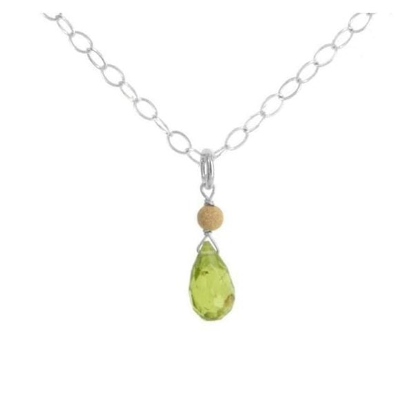 Peridot Gemstone Sterling Silver Handcrafted Necklace - Necklaces