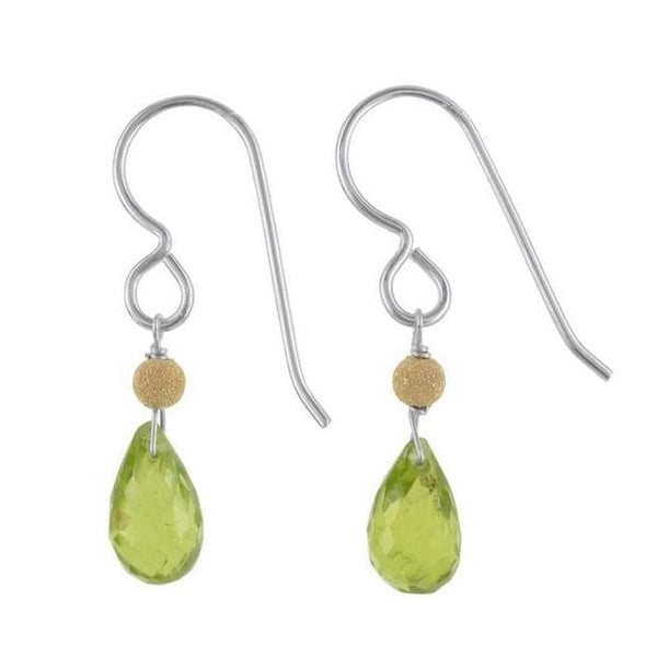 Peridot Gemstones - 925 Sterling Silver - Dainty Handmade Earrings - Earrings