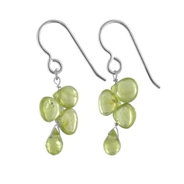 Peridot Natural Gemstone 925 Sterling Silver Handmade Earrings - Earrings