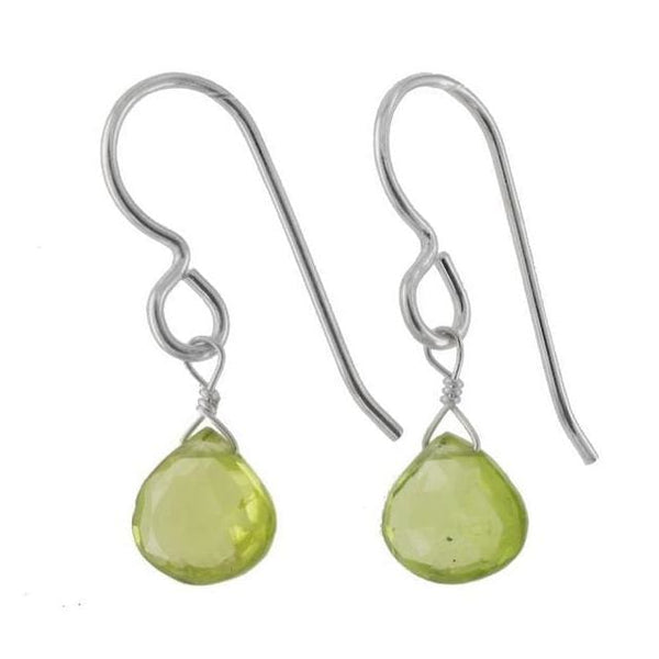 Peridot Sterling Silver Handcrafted Earrings - Earrings