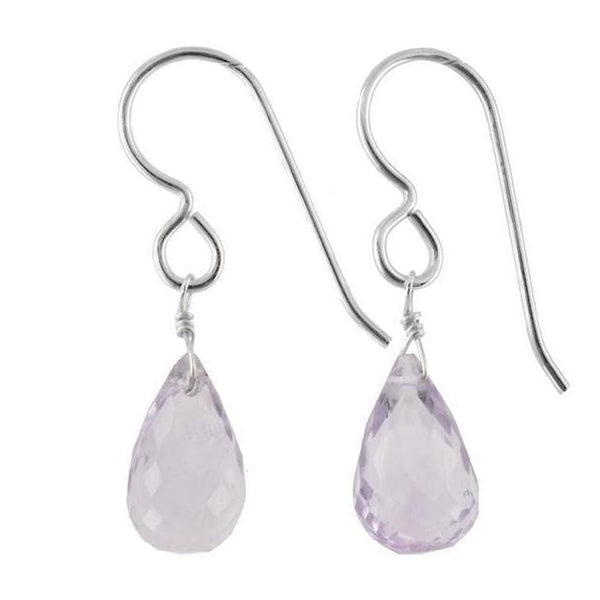 Pink Amethyst Earrings | Rose de France Gemstones | Lilac Pink Jewelry - Earrings