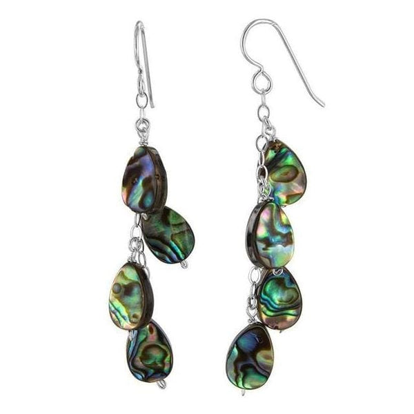 Shell Abalone Earrings | Mother of Pearl Earrings | Chandelier Earrings - Earrings