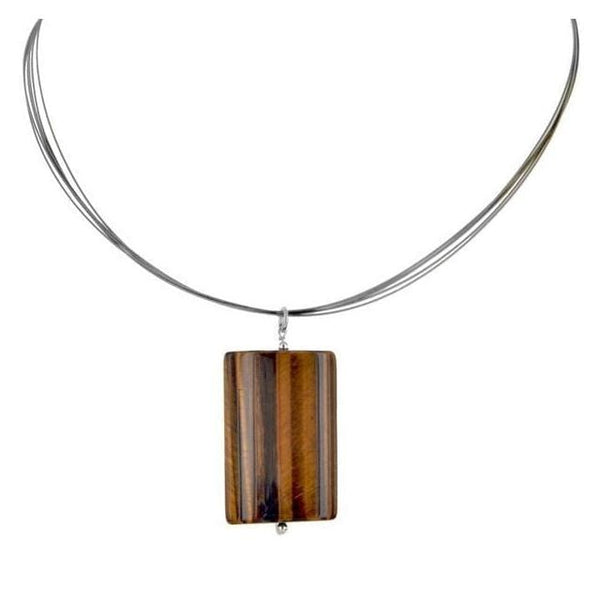 Tigers Eye Sterling Silver Handmade 18 Necklace - Necklaces