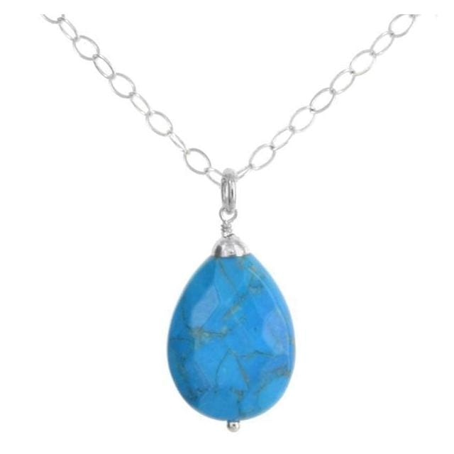 ASHANTI Blue Topaz Sterling Silver Handcrafted 18 inch Necklace