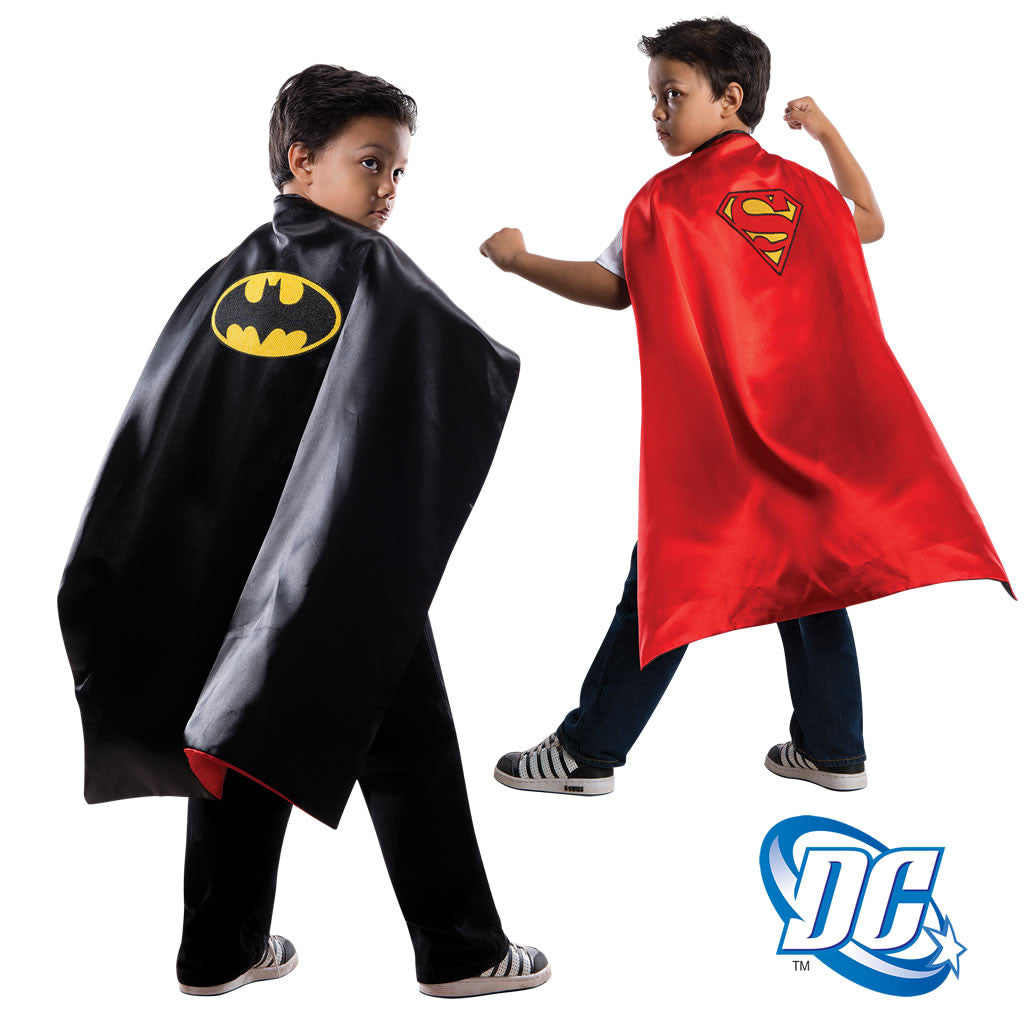 Capa Batman Superman reversible infantil