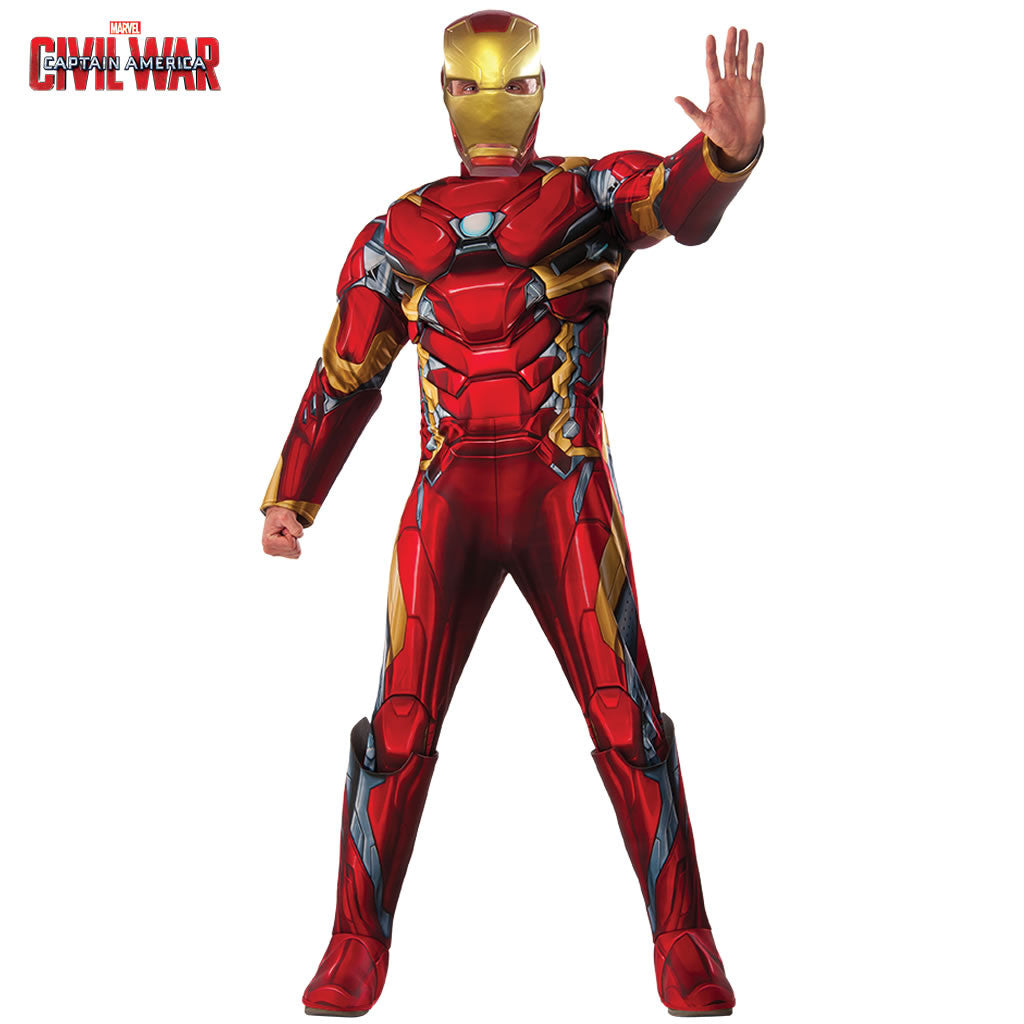 Disfraz de Iron Man Deluxe de Civil War para hombre
