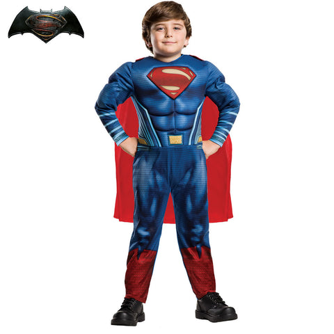 Disfraz de Superman para niño Batman vs Superman musculoso