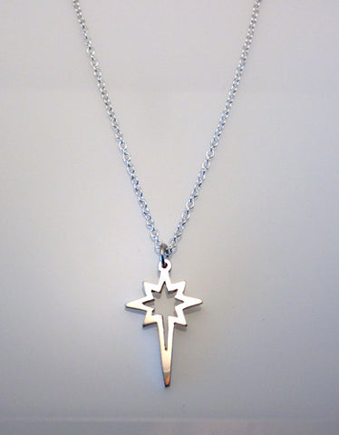 Sterling Silver Large Open Bethlehem Star Pendant - G.R. Werkheiser & Co.