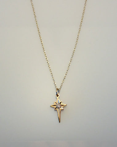 14kt Gold Bethlehem Star Pendant with Diamond Accent - G.R. Werkheiser & Co.  - 1