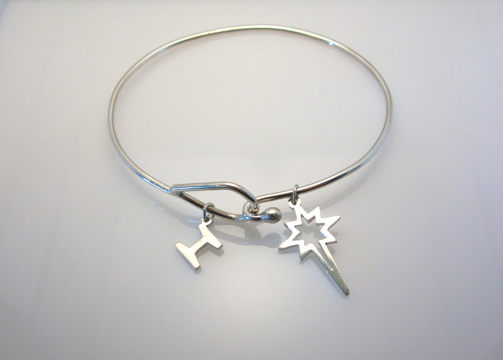 Sterling Silver Bethlehem Star Bangle Bracelet - G.R. Werkheiser & Co.