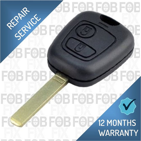 Peugeot 2 button key fob repair service