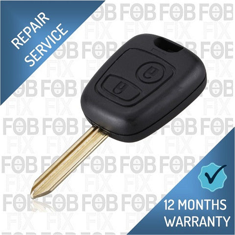 Citroen 2 button key fob repair service