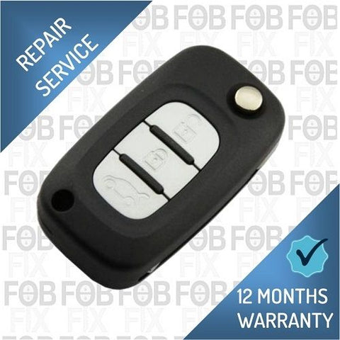 Renault Clio 3 button key fob repair service