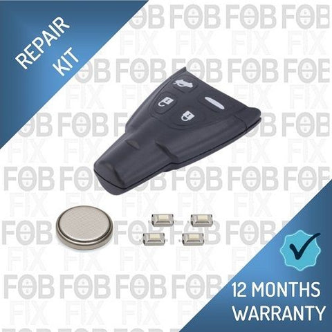 SAAB 4 button key fob repair kit