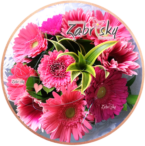 Gerbera pink happy birthday - Florist in Pereira