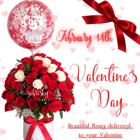 Valentine's Day is Sunday, February 14, 2021