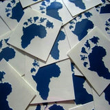 example Africa design custom temporary tattoo, size 1.5 x 1.5