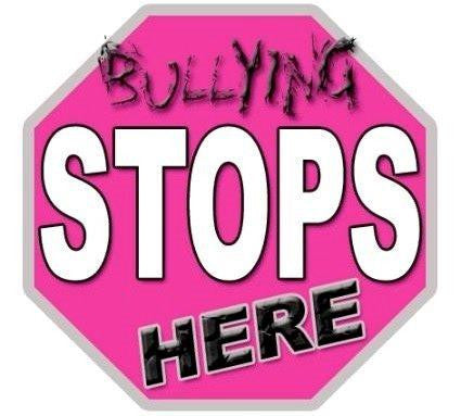 "picture of temporary tattoo with words ""Bullying Stops Here """