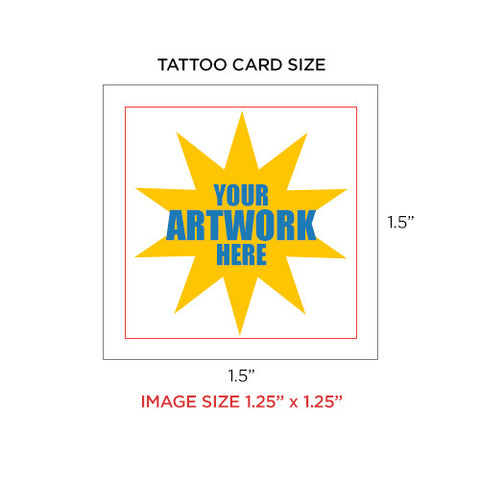 custom temporary tattoo, size 1.5 x 1.5