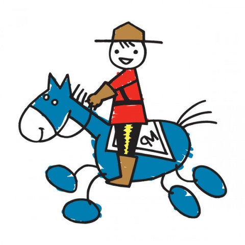 Lil Mountie Gallop Temporary Tattoos