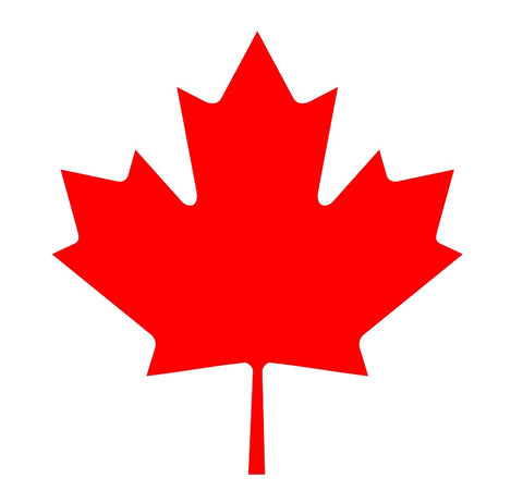 "Canadian Maple Leaf Temporary Tattoos - Two Sizes: 1.5"" x 1.5"" and 2"" x 2"""