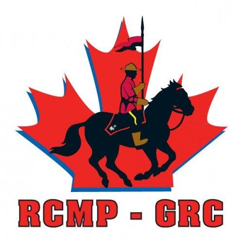 RCMP Horse and Rider Logo Temporary Tattoos