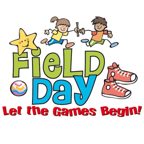 """Let the Games Begin!"" field day temporary tattoo"