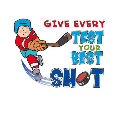 """Give Every Test Your Best Shot"" temporary tattoo (Boy)"