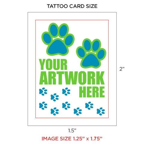 "Custom Temporary Tattoos 1.5"" X 2"""
